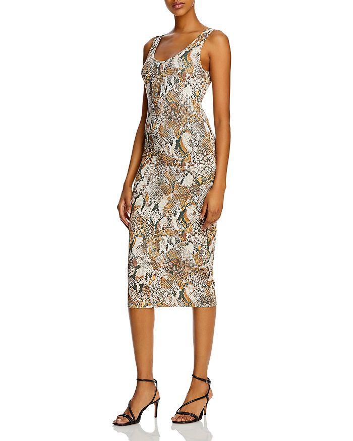 Enza Costa - Python-Print Tank Midi Dress