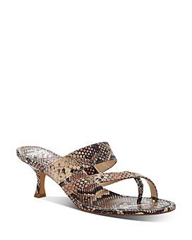 VINCE CAMUTO - Women's Moentha Snake-Embossed High-Heel Sandals
