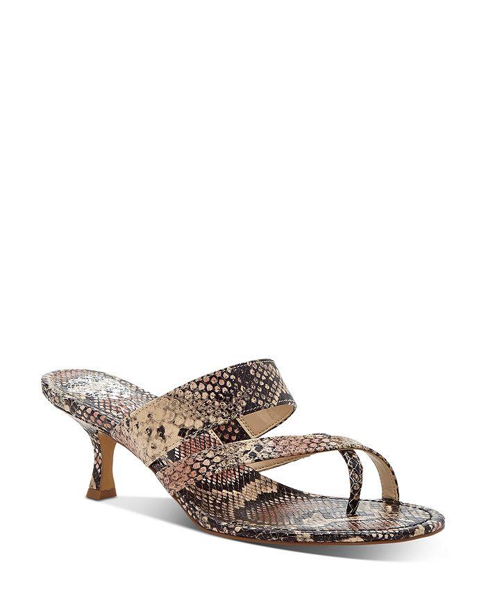 VINCE CAMUTO - Women's Moentha Snake-Embossed High-Heel Sandals