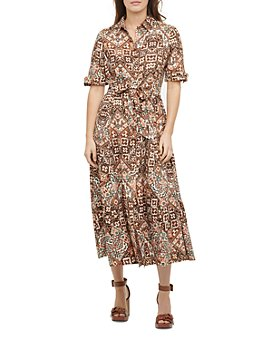 Calvin Klein - Belted Printed Maxi Shirtdress