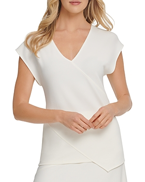 Dkny V-Neck Cap-Sleeve Top