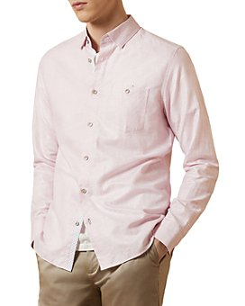 Ted Baker - Tiptoe Linen-Cotton Slim Fit Shirt