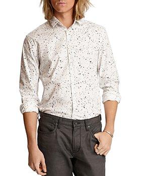 John Varvatos Star USA - Ross Bluff Edge Cotton Splatter-Print Slim Fit Button-Down Shirt