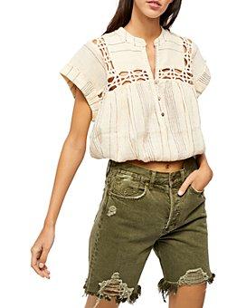 Free People - Cedar Lace Pullover Top