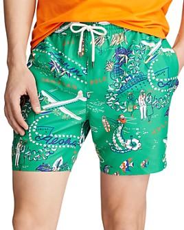 Polo Ralph Lauren - Traveler Tropical-Print Swim Trunks