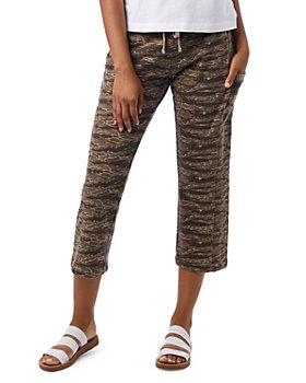ALTERNATIVE - Cropped Tiger Print Jogger Pants