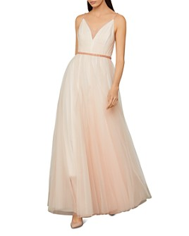 BCBGMAXAZRIA - Beaded Tulle Gown