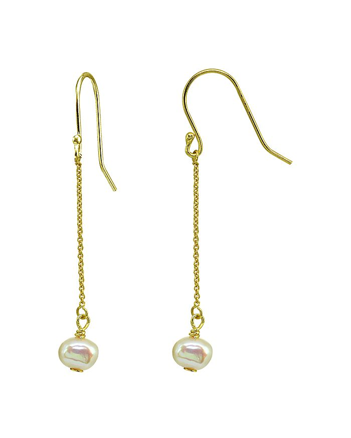 AQUA - Cultured Freshwater Pearl Chain Drop Earrings - 100% Exclusive