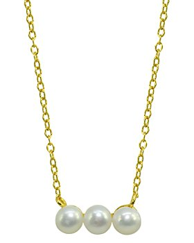 "AQUA - Cultured Freshwater Pearl Bar Necklace, 15.5""-17.5"" - 100% Exclusive"