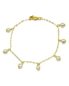 AQUA - Cultured Freshwater Pearl Link Bracelet - 100% Exclusive