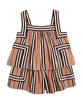 Burberry - Girls' Florence Icon Stripe Romper - Little Kid, Big Kid