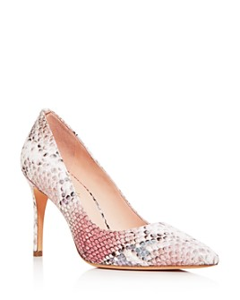 kate spade new york - Women's Valerie Snake-Embossed Pointed-Toe Pumps