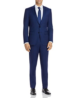 BOSS - Huge/Genius Micro-Check Slim Fit Suit