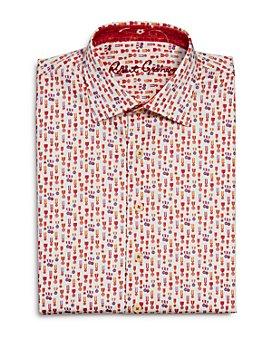 Robert Graham - Boys' Maxcy Cotton-Blend Printed Dress Shirt - Big Kid