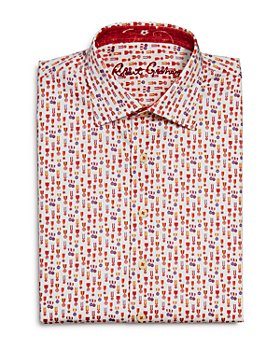 Robert Graham - Boys' Maxcy Cotton-Blend Printed Dress Shirt - Big Kid
