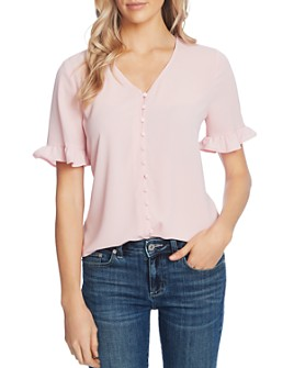 CeCe - Ruffled Button-Up Top