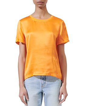 Maje - Tiffany Silk & Cotton Tee