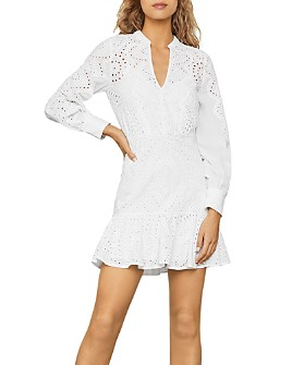 BCBGMAXAZRIA - Cotton Eyelet Mini Dress