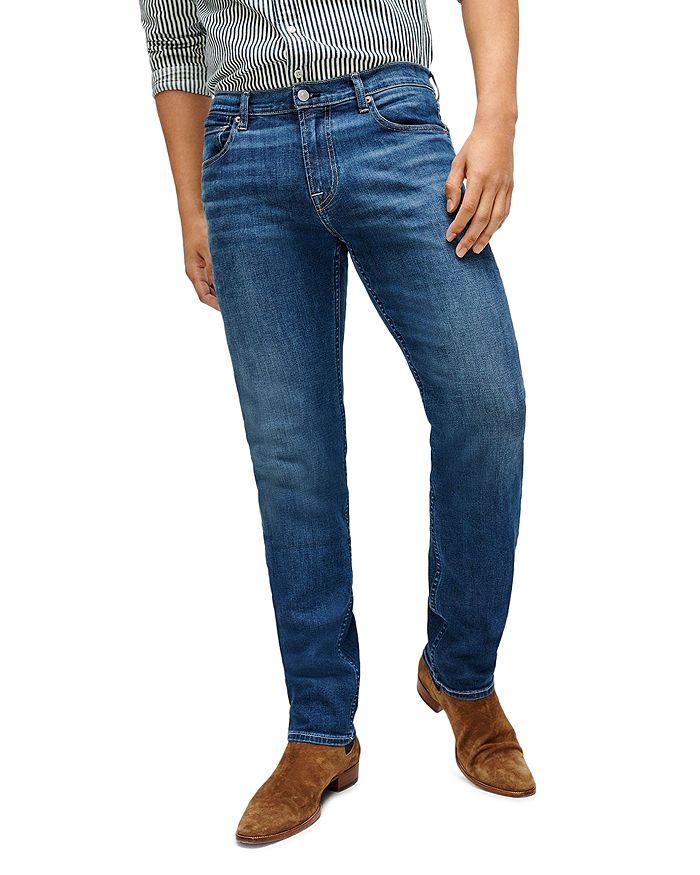 7 For All Mankind - Slimmy Slim Fit Jeans in New York Dark