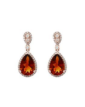 Bloomingdale's - Madeira Citrine & Diamond Drop Earrings in 14K Rose Gold - 100% Exclusive