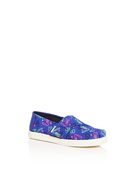 TOMS - Girls' Love Alpargata Printed Slip-On Sneakers - Baby, Walker, Toddler