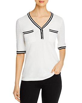 KARL LAGERFELD PARIS - V-Neck Sweater