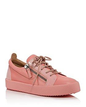 Giuseppe Zanotti - Women's Double-Zipper Low-Cut Sneakers