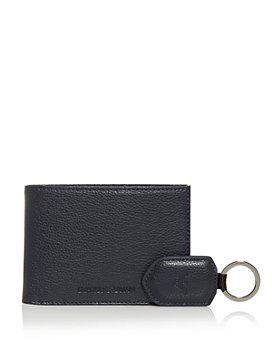 Armani - Leather Bi-Fold Wallet & Keychain Set