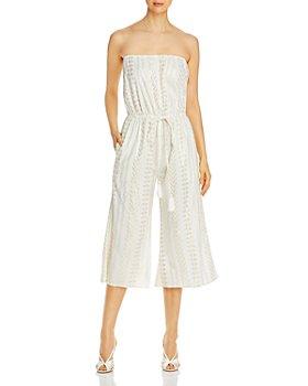 Elan - Strapless Culotte Jumpsuit