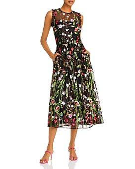 AQUA - Embroidered Ruffled Dress - 100% Exclusive