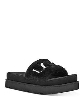 UGG® - Women's Laton Logo-Embroidered Slide Sandals