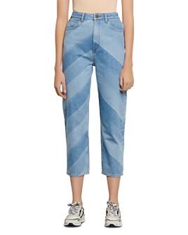 Sandro - Diego Chevron Straight Jeans