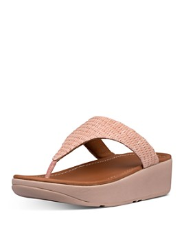FitFlop - Women's Imogen Basket-Weave T-Strap Wedge Sandals