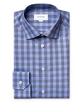 Eton - Cotton Plaid Regular Fit Dress Shirt