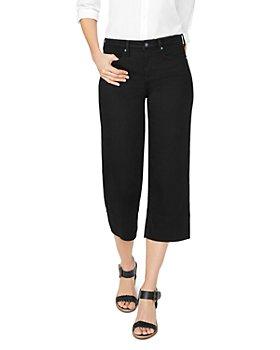 NYDJ - Wide-Leg Capri Jeans in Black