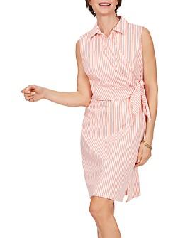 Foxcroft - Striped Wrap Dress