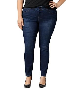 Jag Jeans Plus Cecilia Skinny Jeans in Medium Indigo