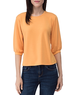 Audre French Terry Puff-Sleeve Top