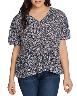 1.STATE Plus - Wildflower Bouquet Blouse