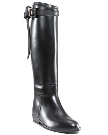 Burberry - Women's Burberry Flat Riding Rain Boots