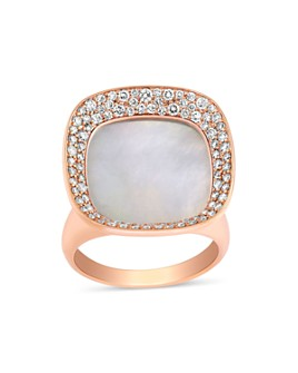 Roberto Coin - 18K Rose Gold Carnaby Street Mother-of-Pearl & Diamond Ring