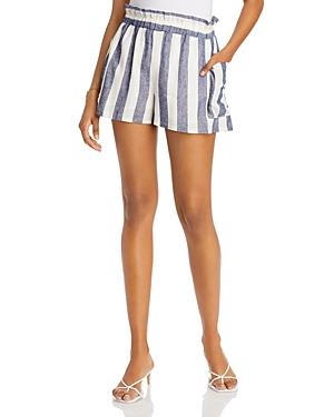 Aqua Striped Pull-On Shorts - 100% Exclusive-Women