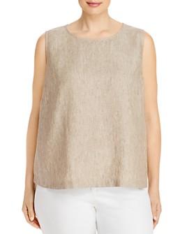 Eileen Fisher Plus - Organic Linen Sleeveless Top