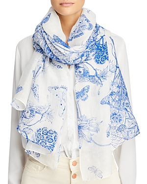 Toile Floral Scarf