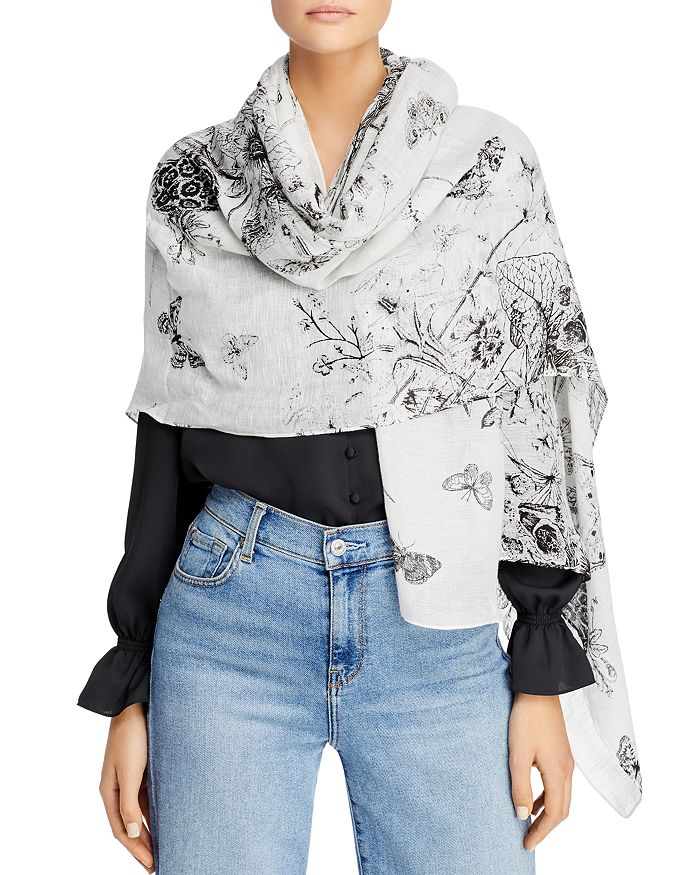 Fraas - Toile Floral Scarf - 100% Exclusive