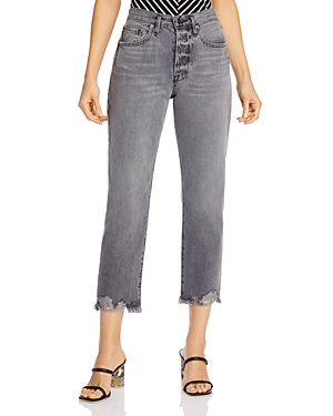 Frame Le Original Raw Edge Cropped Jeans in Acera Chew