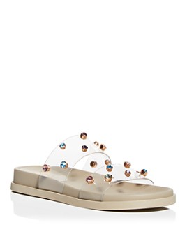 VINCE CAMUTO - Women's Partha Crystal-Embellished Slide Sandals
