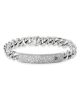 David Yurman - Belmont Curb Link ID Bracelet with Pavé Diamonds