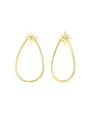 Roberto Coin 18K Yellow Gold Disney Cinderella Diamond Wand Teardrop Drop Earrings-Jewelry & Accessories