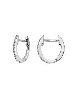 Bloomingdale's - Diamond Oval Huggie Hoop Earrings in Gold-Plated Sterling Silver or Sterling Silver - 100% Exclusive